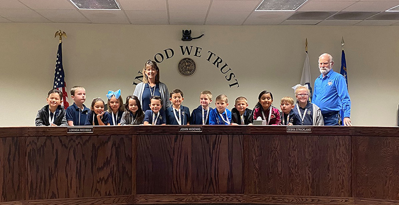 CCA first grade class visits Nye County Administrative Offices